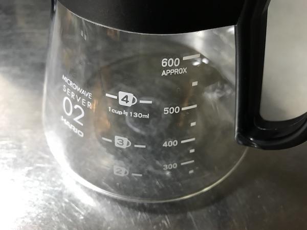 ハリオのコーヒーサーバ