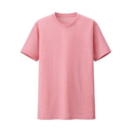 MEN ドライカラークルーネックT(半袖) ピンク