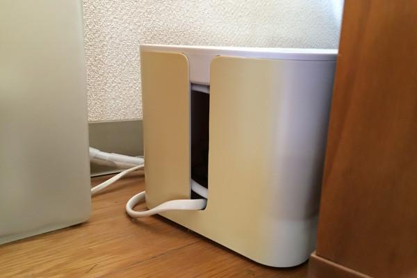 白いケーブルボックスの黄ばみ