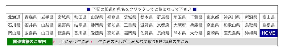 都道府県の一覧表
