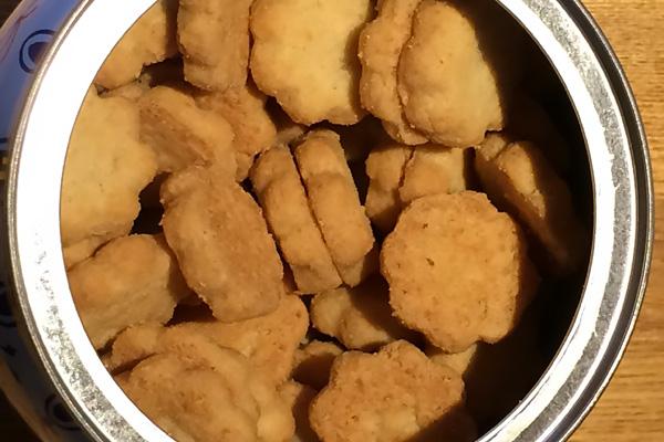 ツボみたいな入れ物 コペンハーゲン ダニッシュミニクッキー 中のクッキー