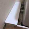 洗濯機横のスペースに棚を置く